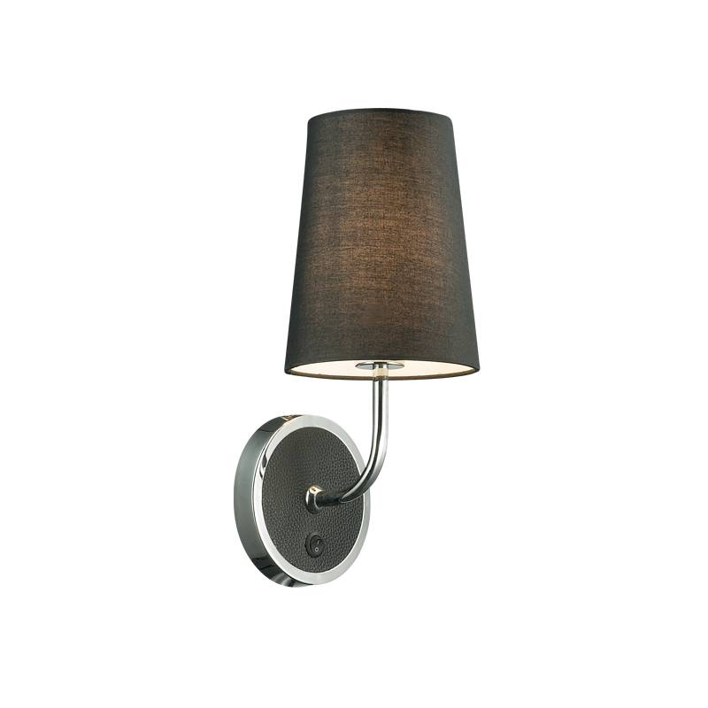 Lampu Dinding / Wall Lamp Black T/c Fabric Shade
