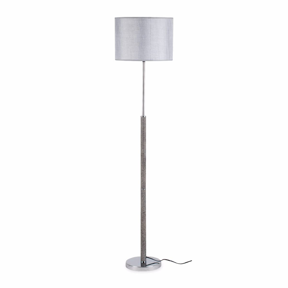 Lampu Lantai Floor Lamp Grey Fabric Shade