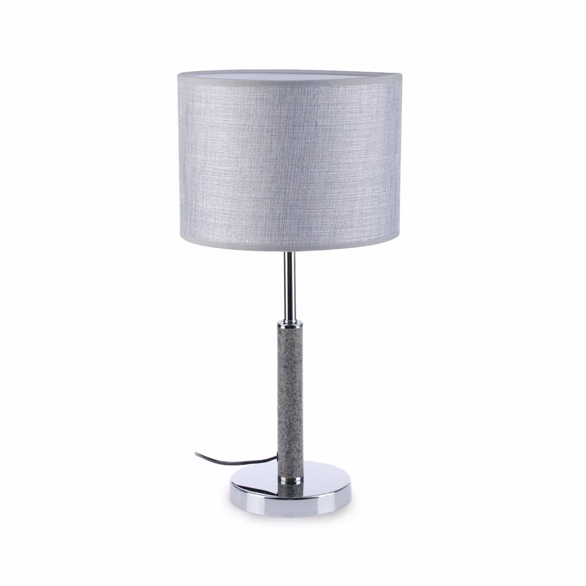 Lampu Meja Table Lamp Grey Fabric Shade