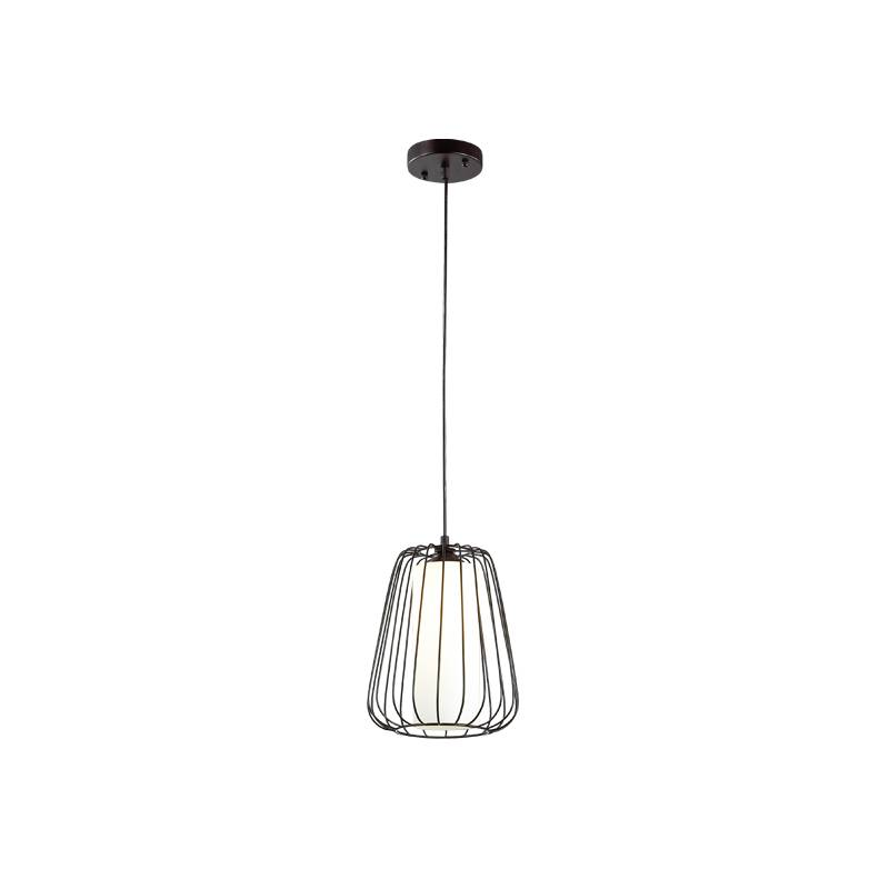 Lampu Gantung Pendant Lamp Steel And Glass Black