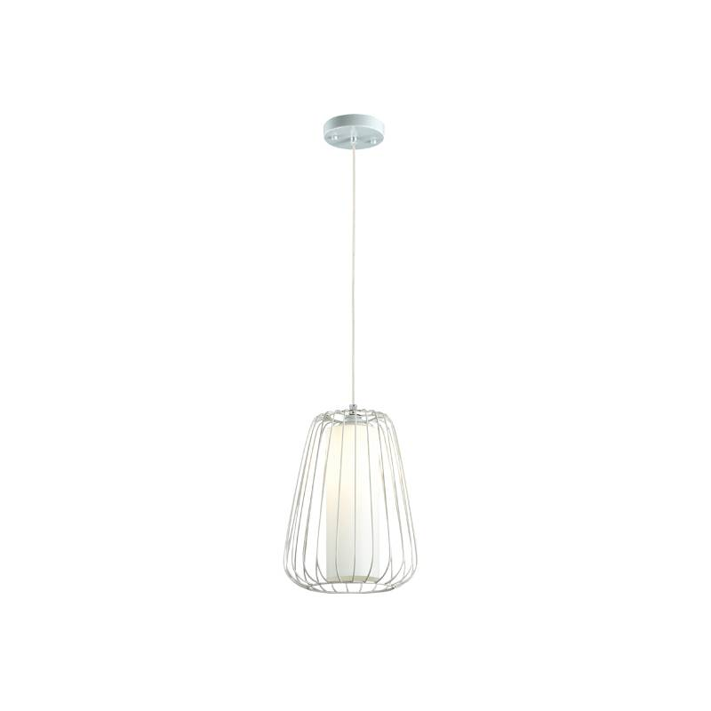 Lampu Gantung Pendant Lamp Steel And Glass White