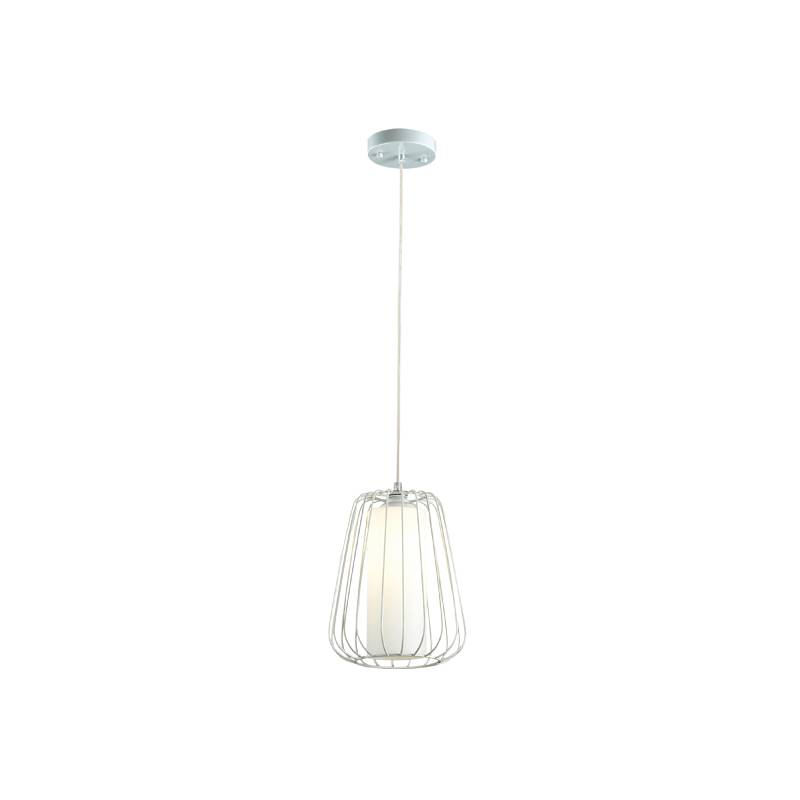 Lampu Gantung Pendant Lamp Steel And Glass White S