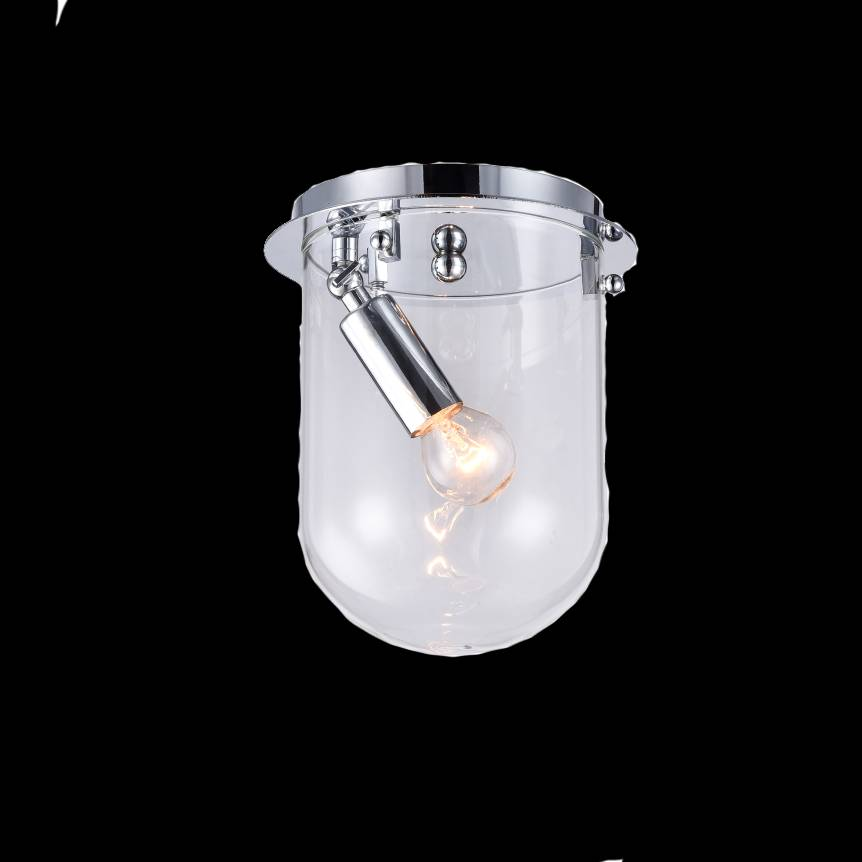 Lampu Plafon / Ceiling Lamp Steel+glass Chrome