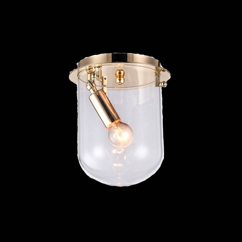Lampu Plafon / Ceiling Lamp Steel+glass France Gold