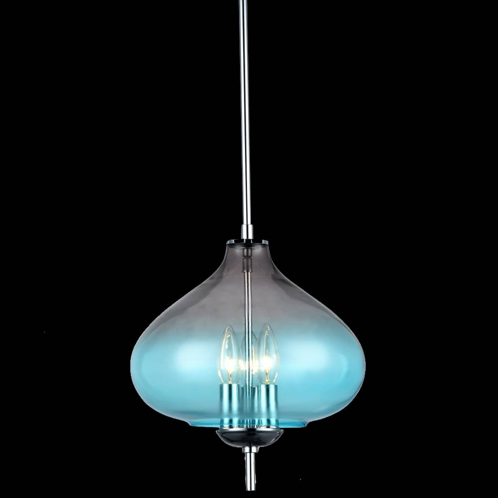 Lampu Gantung / Pendant Lamp Steel+glass Polished Chrom