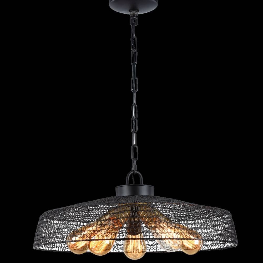 Lampu Gantung / Pendant Lamp Steel Dark Brown