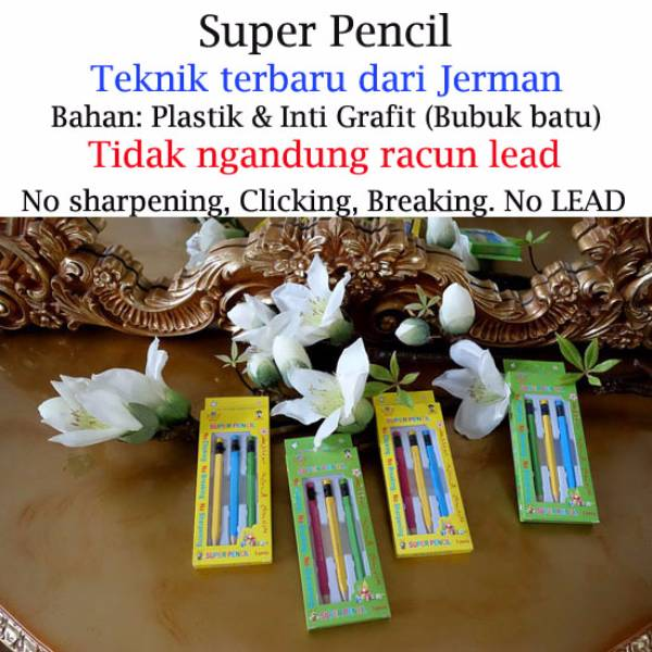 Super Pencil – Pensil Tercanggih Di Dunia By Priscila Collection – 3pcs