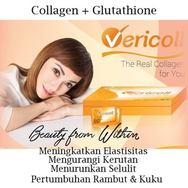 Vericoll – Collagen + Glutathione – Kecantikan Kulit – 10sachets (@3gr)/ Box – Jerman