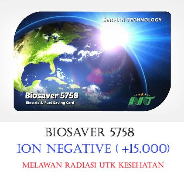 Biosaver 5758 (+15.000) – Kartu Ion Negative & Far Infrared Utk Kesehatan & Melawan Radias...