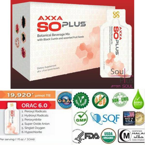So Plus– Axxa - Rain Soul – Pembersih Darah - 28sachets/box @30ml – Usa