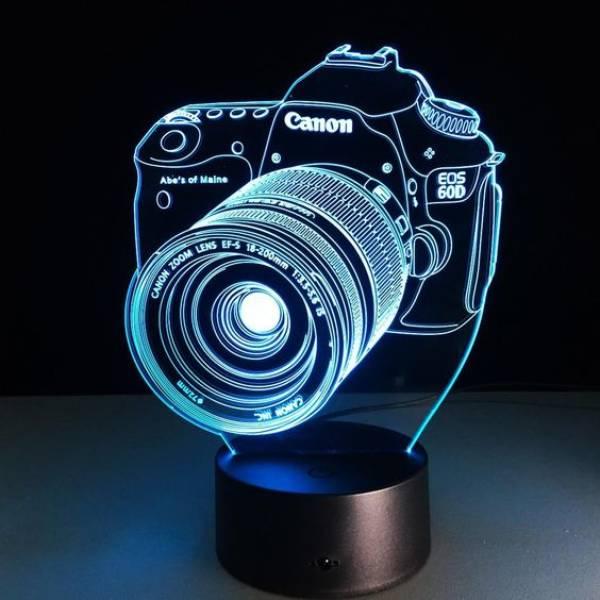 3 D Lampu Hias Meja Camera Canon