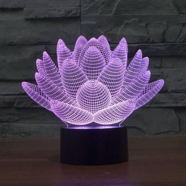 3d Decorative Lamp Lotus1