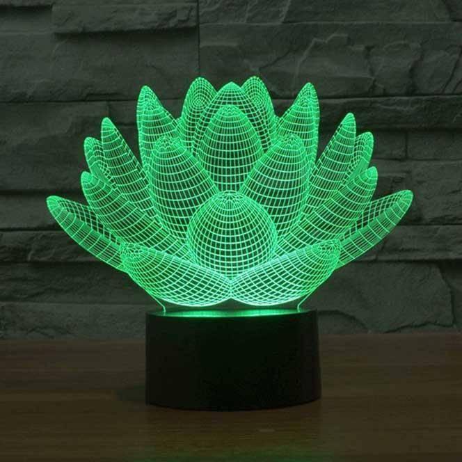 3d Decorative Lamp Lotus2