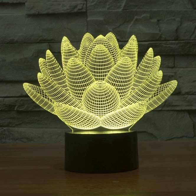 3d Decorative Lamp Lotus4