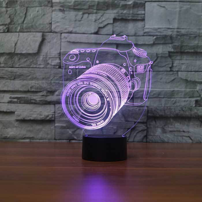 3 D Lampu  Meja Camera Canon1