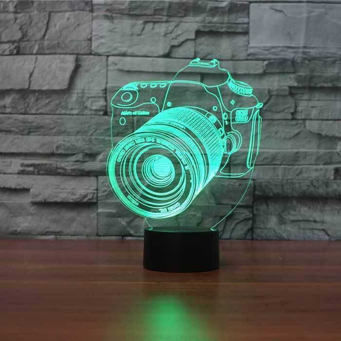 3 D Lampu  Meja Camera Canon3