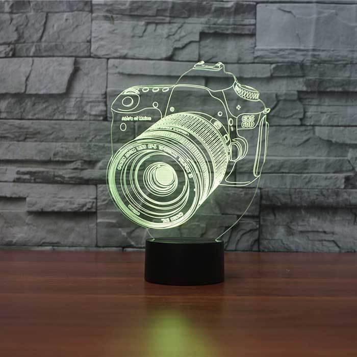 3 D Lampu Hias Meja Camera Canon4