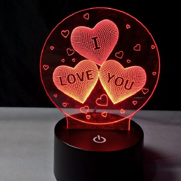 3d Led Illusion Lamp I Love You1