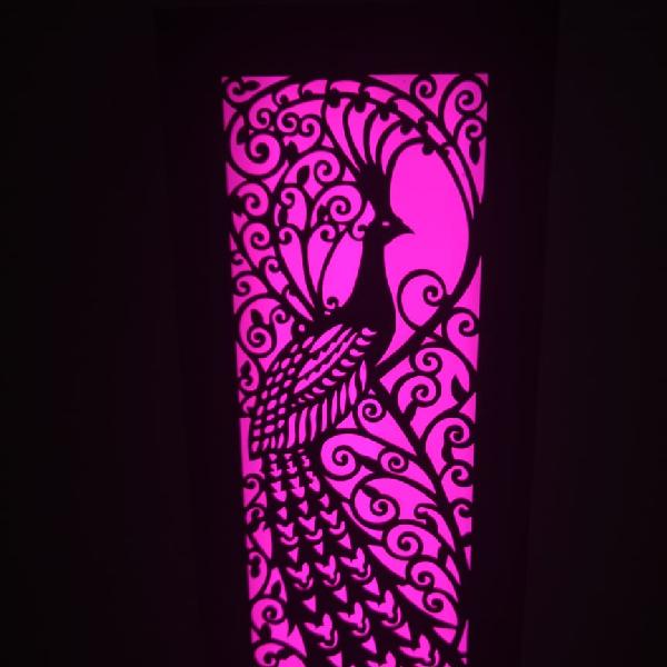 Lampu Hias Dinding Motif Merak1