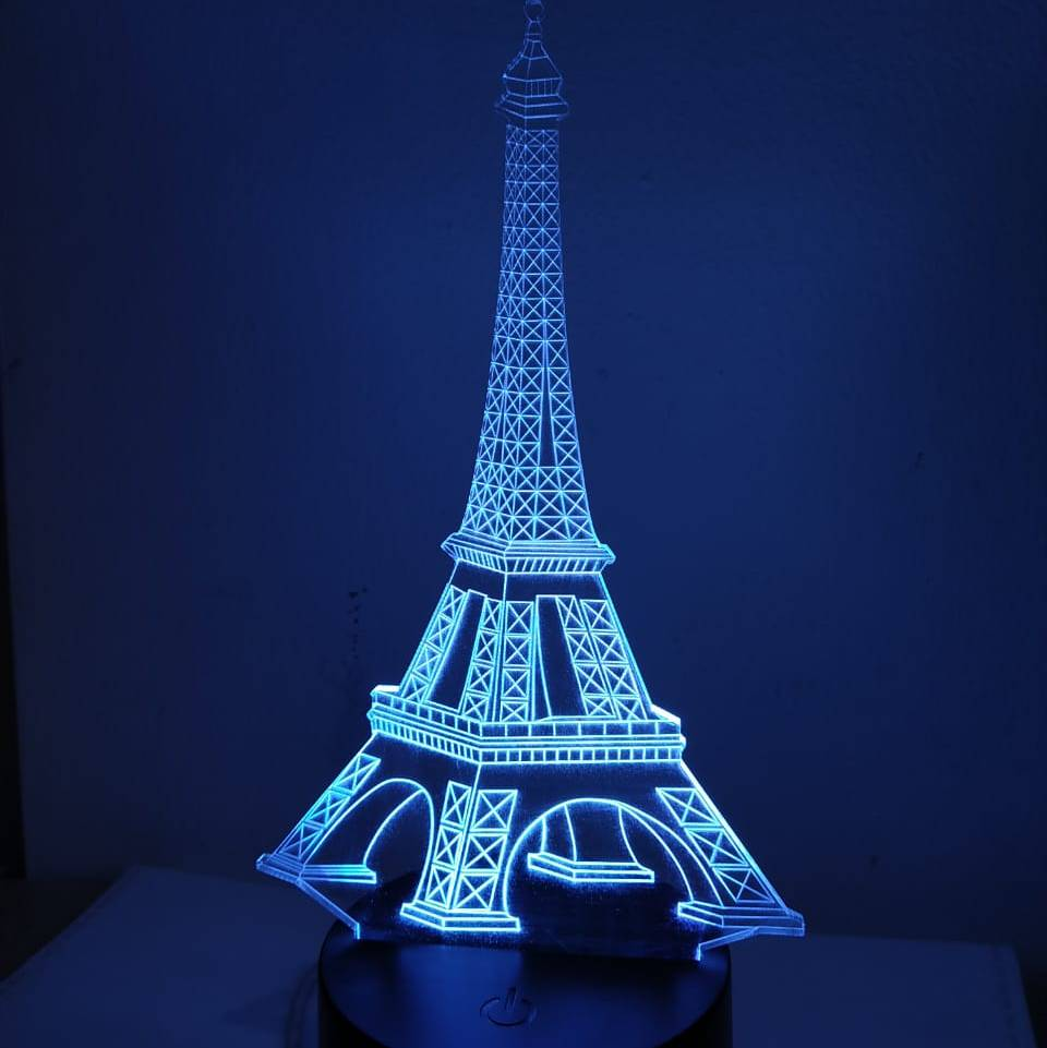 3d Led Illussion Lamp Eifel Tower