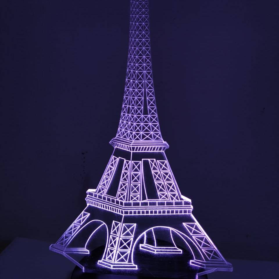 3d Led Illussion Lamp Eifel Tower2