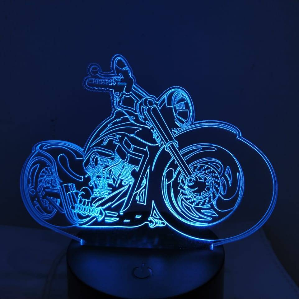 3d Led Illusion Lamp Harley Davidson