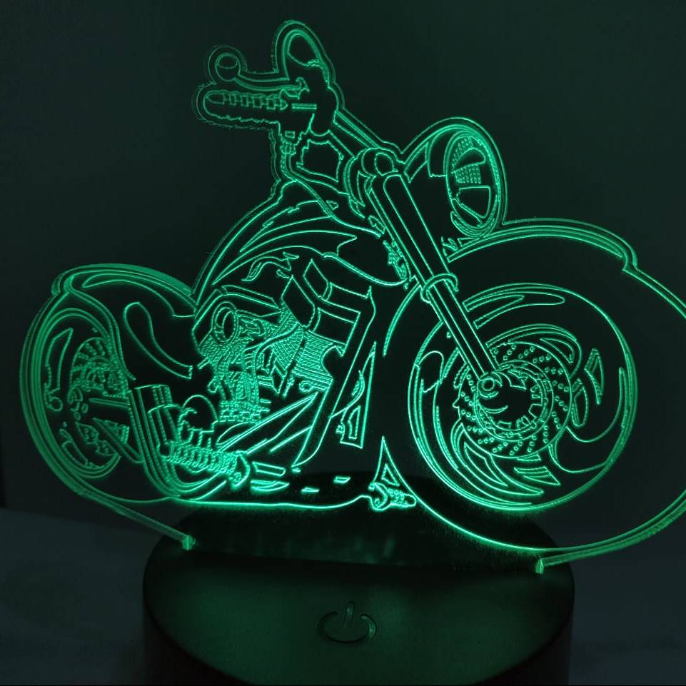 3d Led Illusion Lamp Harley Davidson2