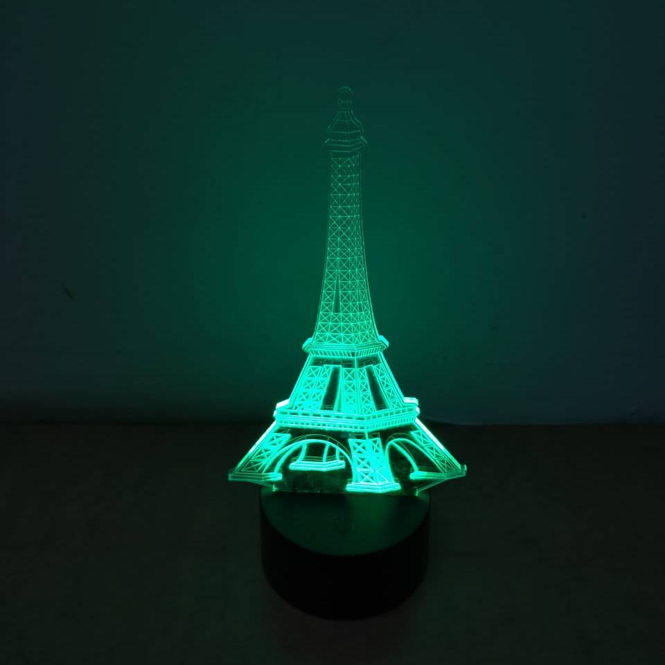 3d Led Illussion Lamp Eifel Tower3