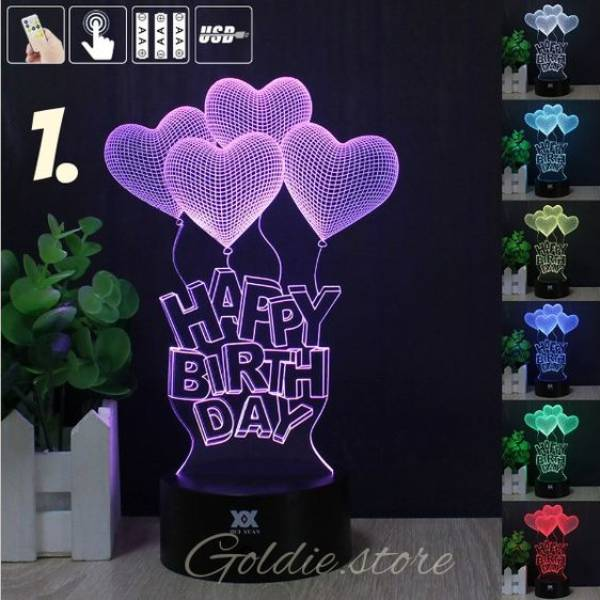 3d Illussion Happy Birthday Love Stories Led Decorative Lamp1