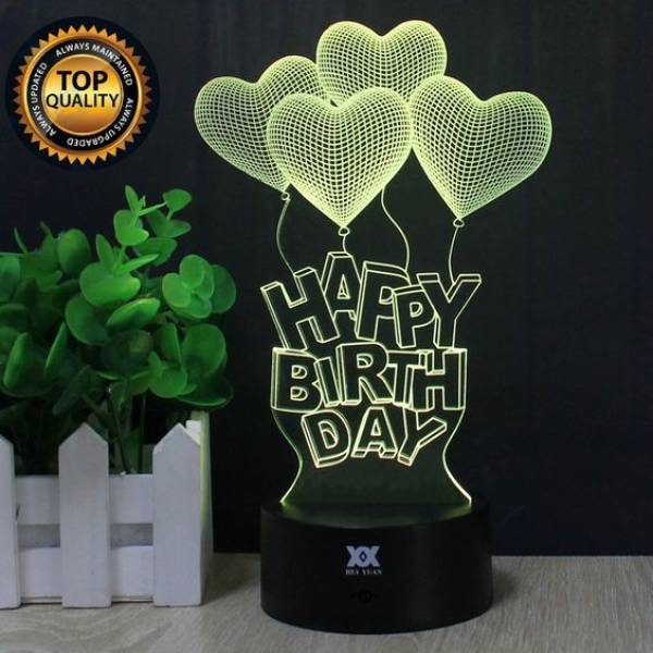 3d Illussion Happy Birthday Love Stories Led Decorative Lamp2