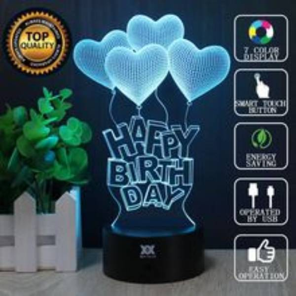 3d Illussion Happy Birthday Love Stories Led Decorative Lamp3
