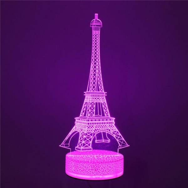 3d Led Illussion Lamp Eifel Tower1