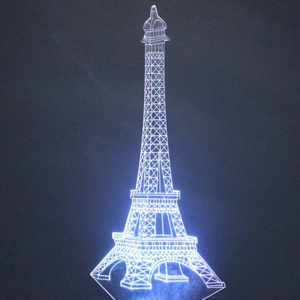 3d Led Illussion Lamp Eifel Tower4