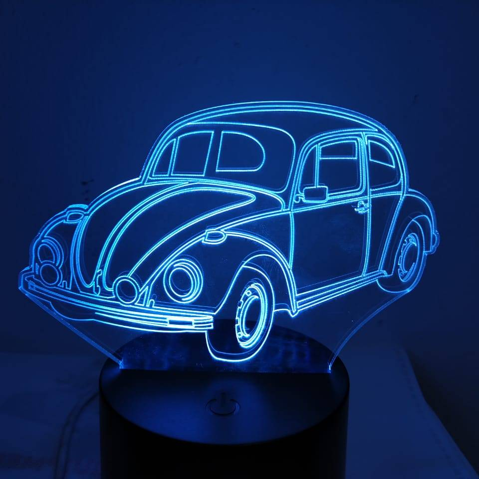 3d Led Illusion Lamp Mobil Vw Kodok
