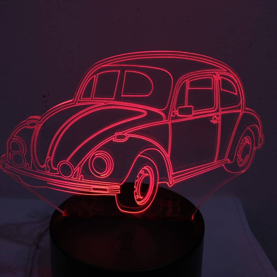 3d Led Illusion Lamp Mobil Vw Kodok1