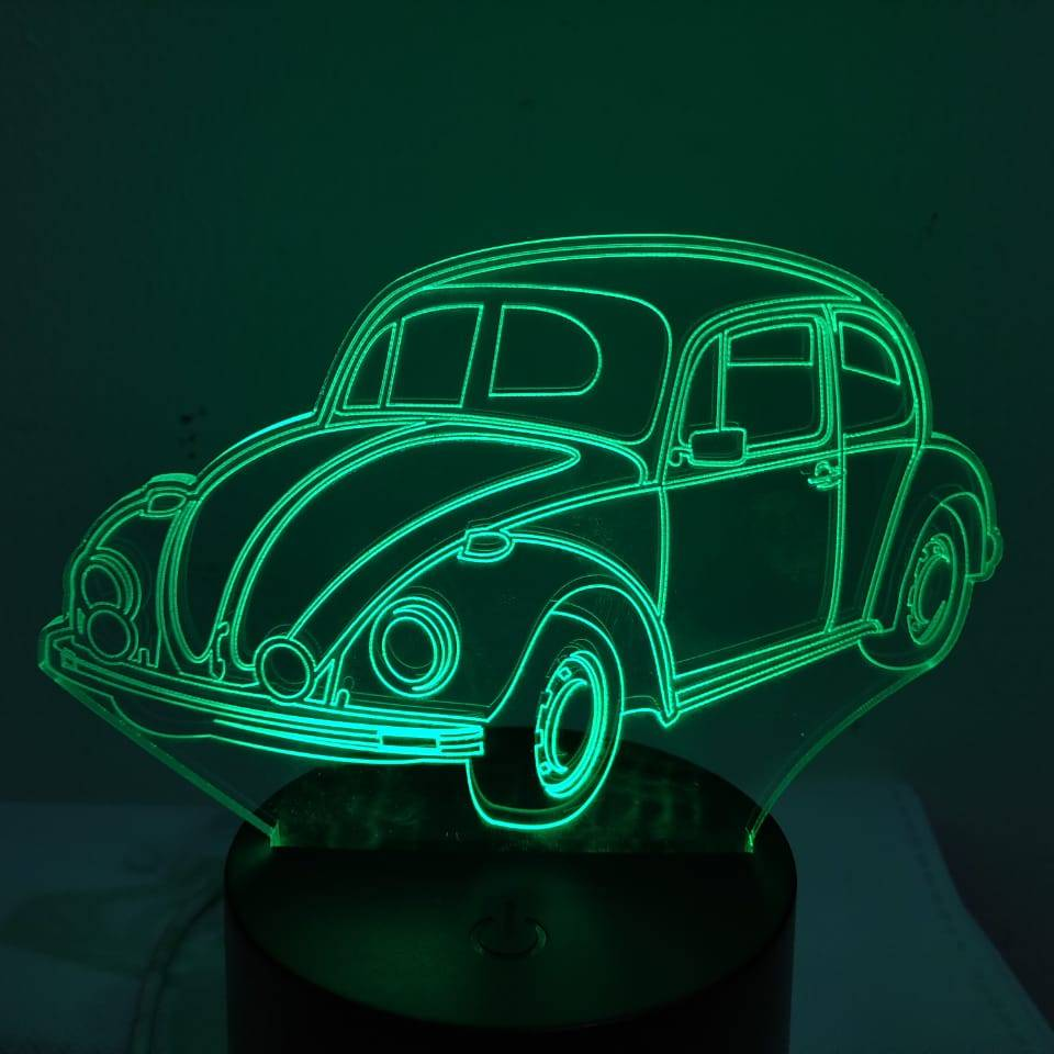 3d Led Illusion Lamp Mobil Vw Kodok2
