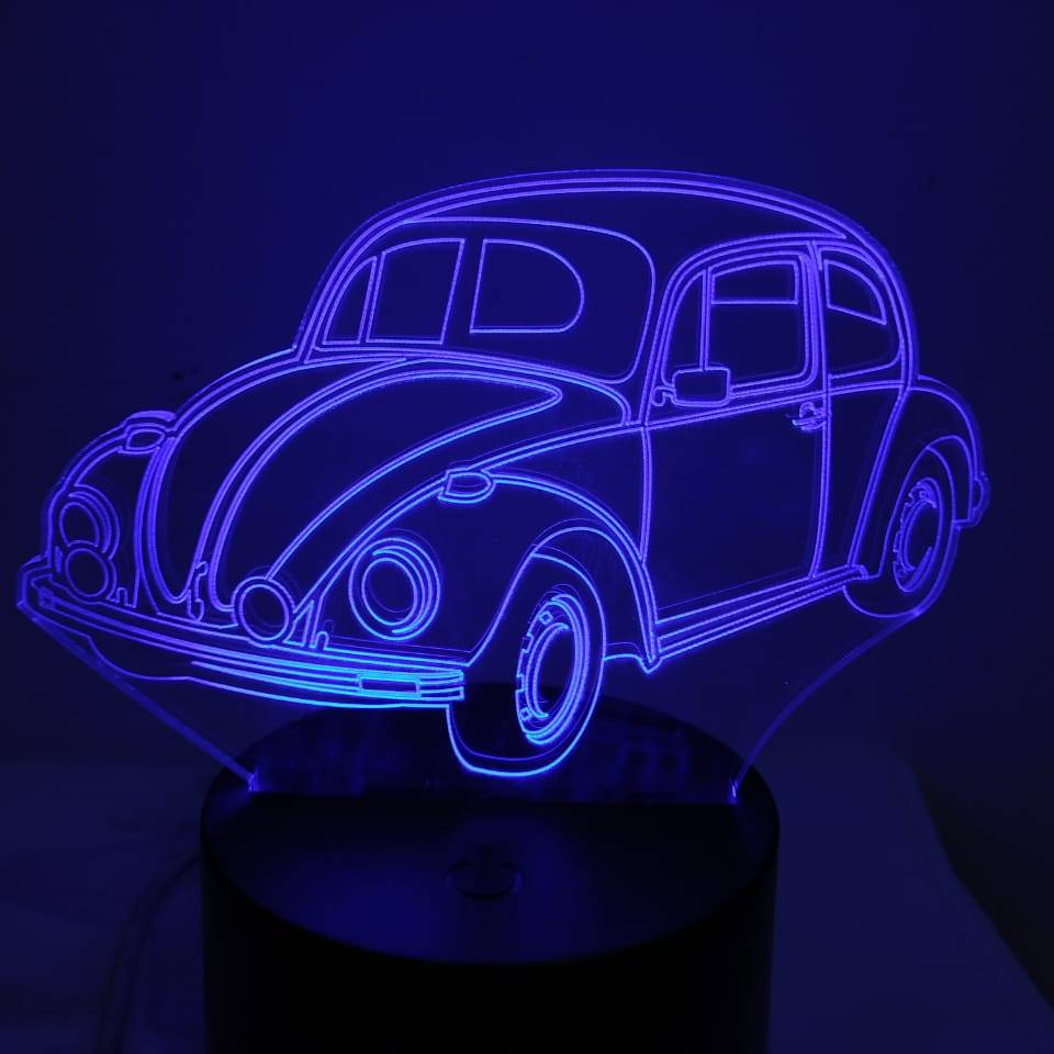 3d Led Illusion Lamp Mobil Vw Kodok3