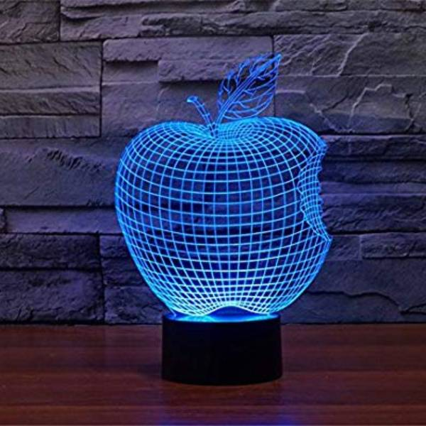 3d Led Illusion Lamp Apple