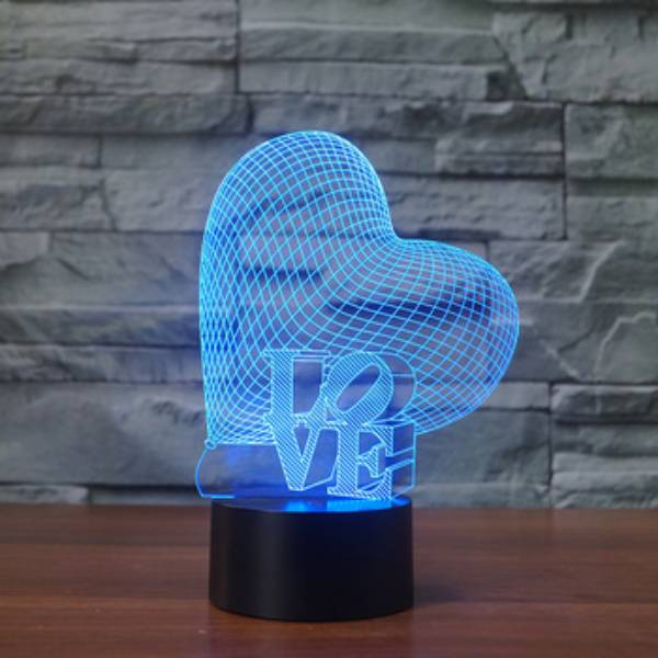 3d Led Illusion Lamp Love1