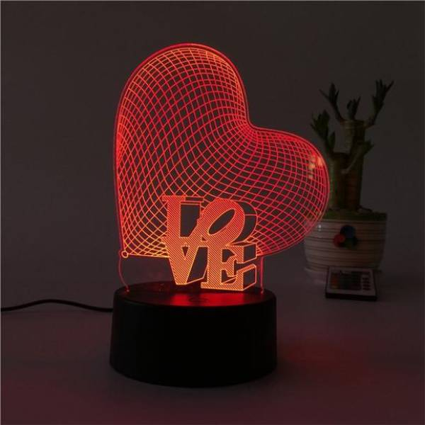 3d Led Illusion Lamp Love4