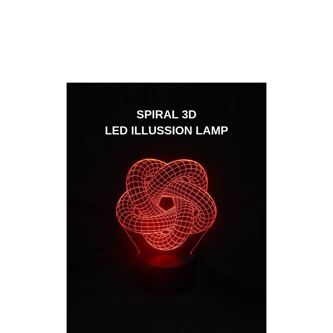 3D LED ILLUSION LAMP SPIRAL1