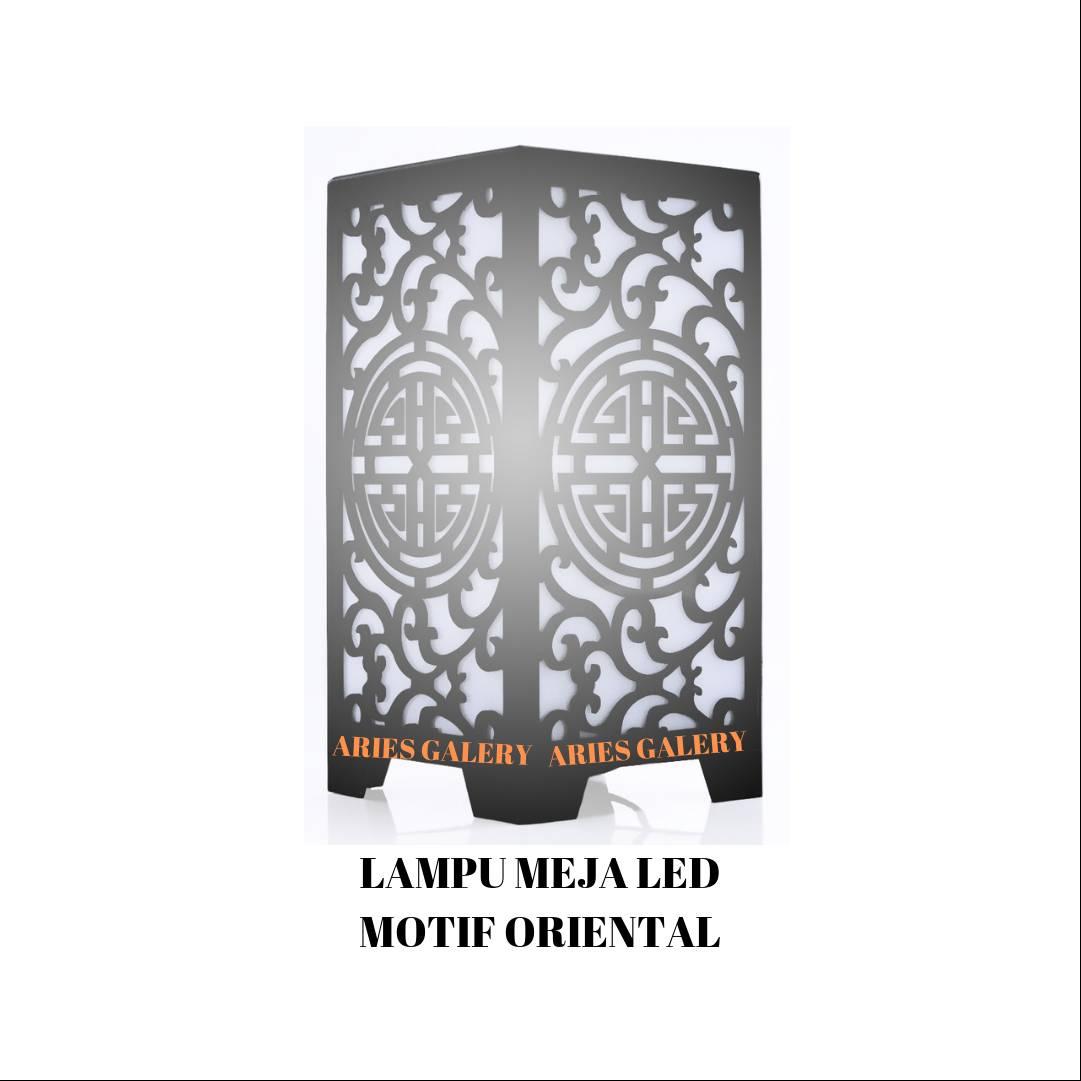 ARIES GALERY LAMPU MEJA LED ORIENTAL KOTAK3