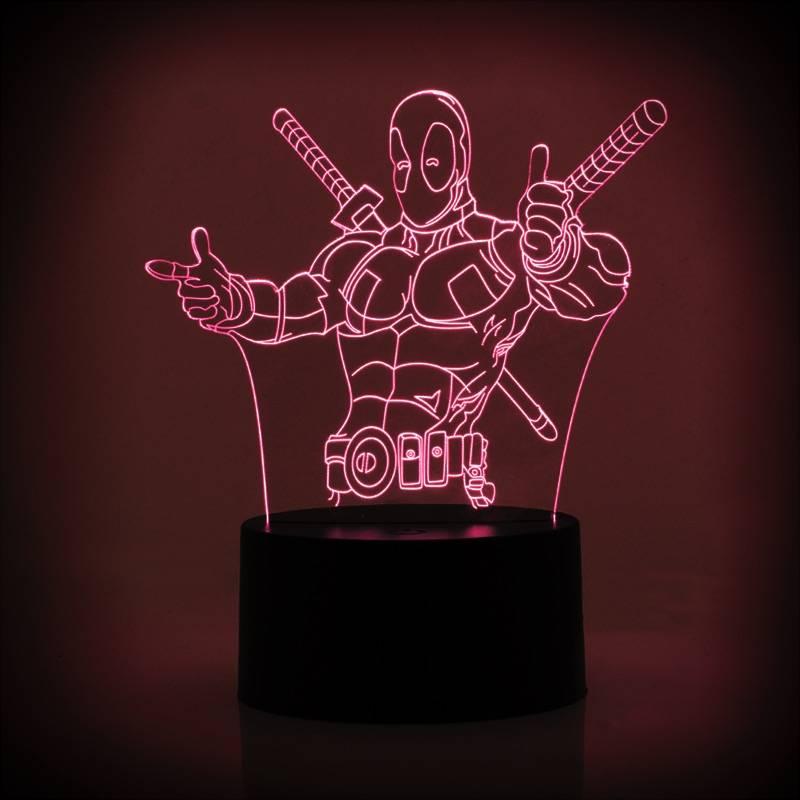 ROBOT STAR WARS ACRYLIC LAMPU MEJA