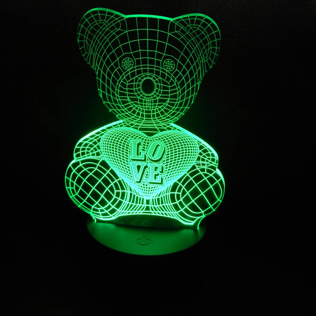 LAMPU MEJA LED 3D LOVING BEAR1