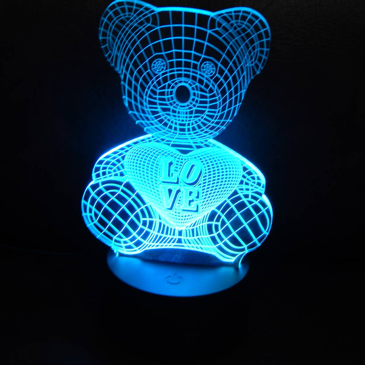 LAMPU MEJA LED 3D LOVING BEAR3