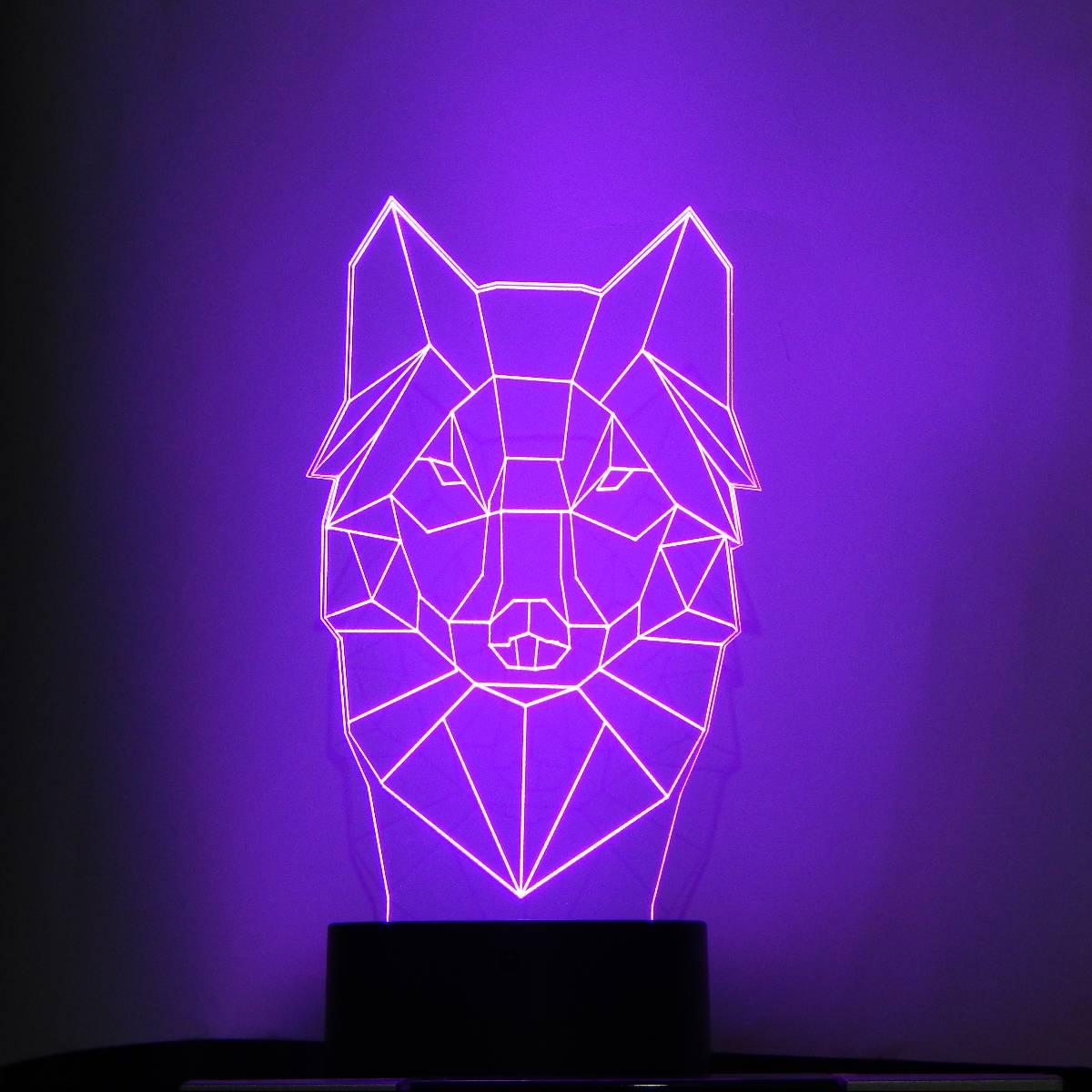 LAMPU MEJA LED 3 DIMENSI ANJING2