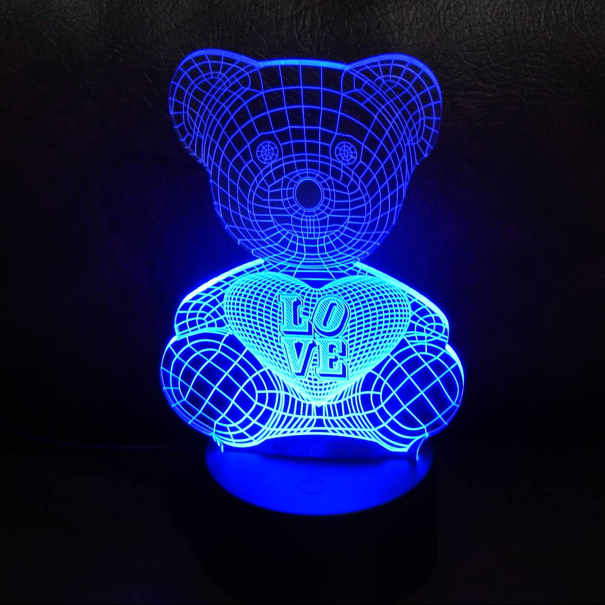 LAMPU MEJA LED 3D LOVING BEAR0