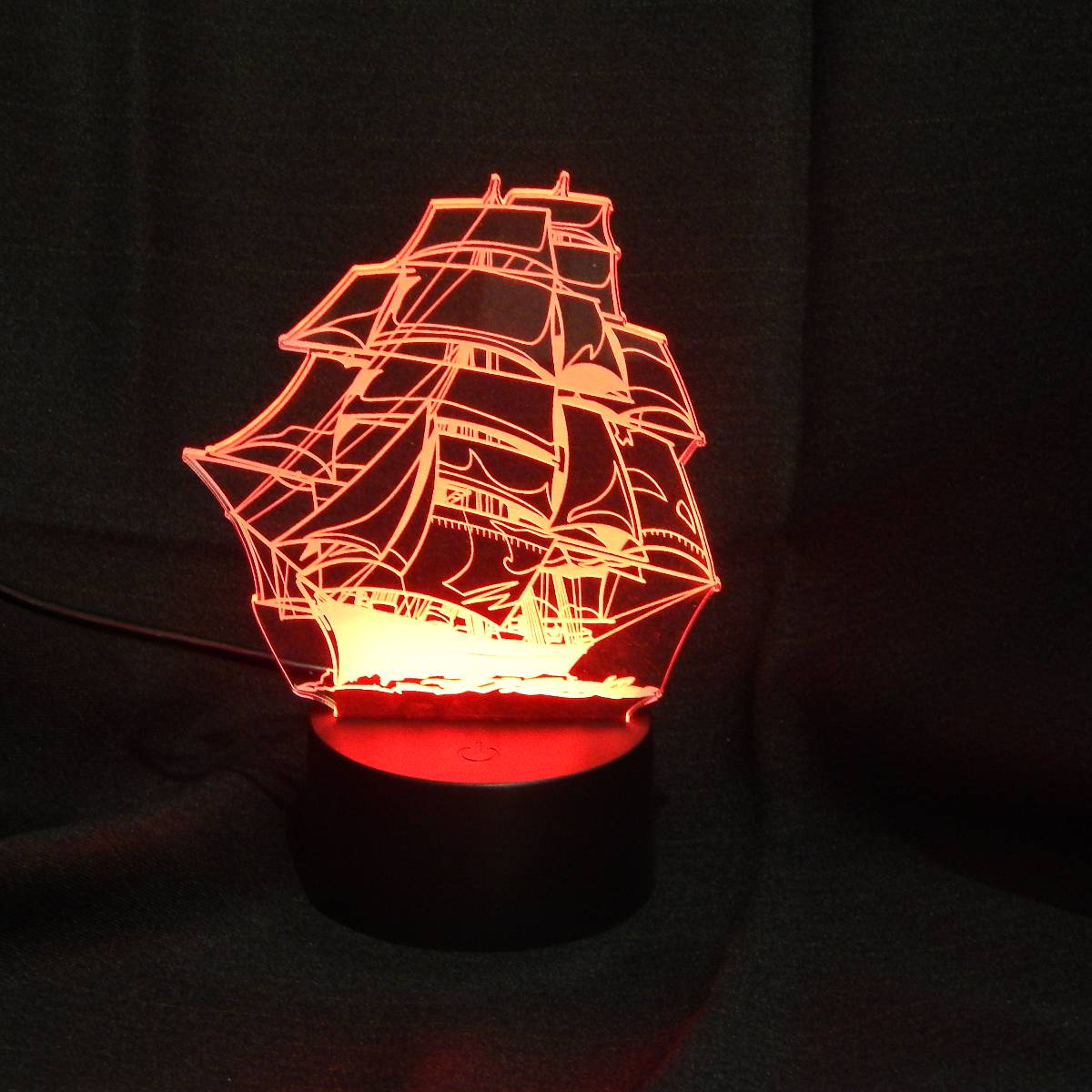 Lampu Meja Lampu Tidur Lampu Hias Kapal LED 3D Tradisional