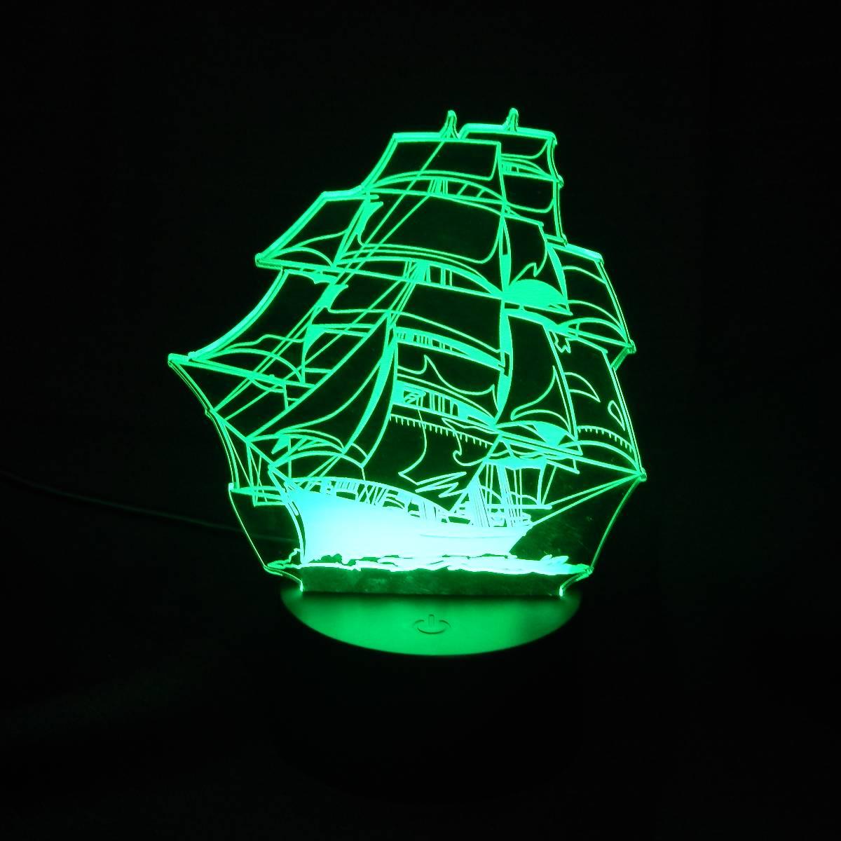 Lampu Meja Lampu Tidur Lampu Hias Kapal LED 3D Tradisional1