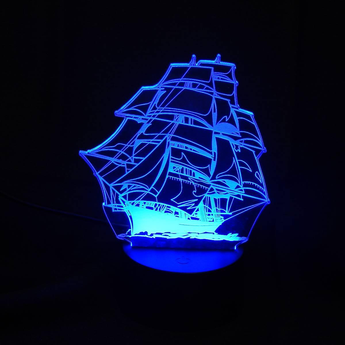 Lampu Meja Lampu Tidur Lampu Hias Kapal LED 3D Tradisional2